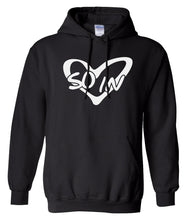 Load image into Gallery viewer, black so in Love matching couples valentines day hoodie