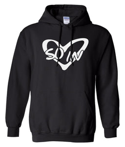 black so in Love matching couples valentines day hoodie