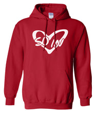 Load image into Gallery viewer, red so in Love matching couples valentines day hoodie
