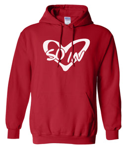 red so in Love matching couples valentines day hoodie