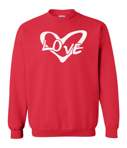 red Love couples valentines day sweatshirt