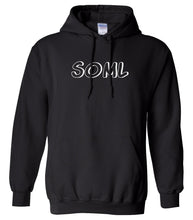 Load image into Gallery viewer, black SOML hooded sweatshirt for women