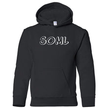 Load image into Gallery viewer, black SOML youth hooded sweatshirts for girls