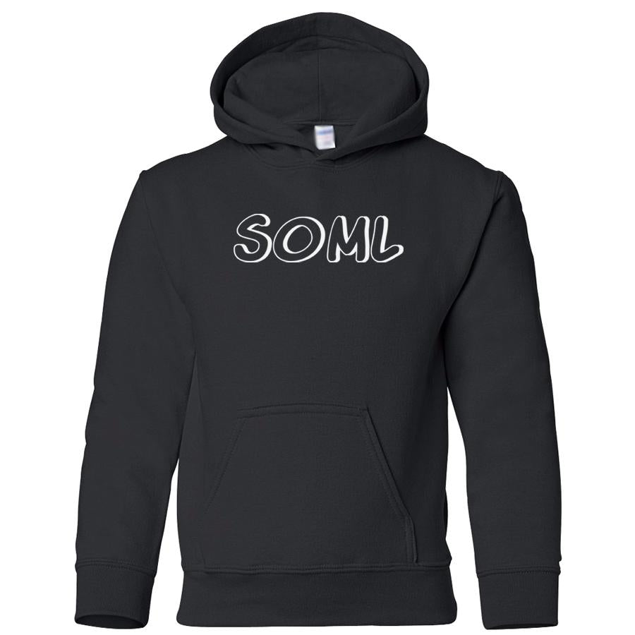 black SOML youth hooded sweatshirts for girls