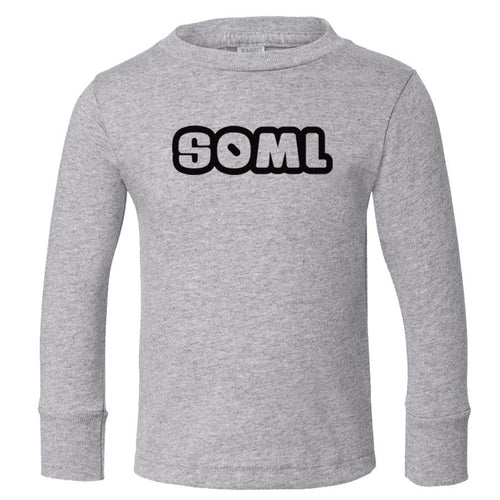 grey SOML long sleeve t shirt for toddlers