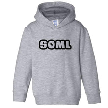Load image into Gallery viewer, grey SOML hooded sweatshirt for toddlers
