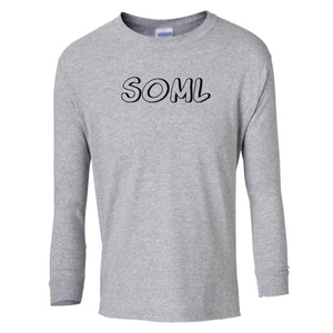 grey SOML youth long sleeve t shirt for girls