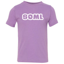 Load image into Gallery viewer, lavender SOML crewneck t shirt for toddlers