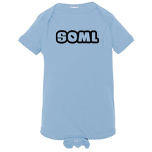 Load image into Gallery viewer, blue SOML onesie for babies