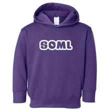 Load image into Gallery viewer, purple SOML hooded sweatshirt for toddlers