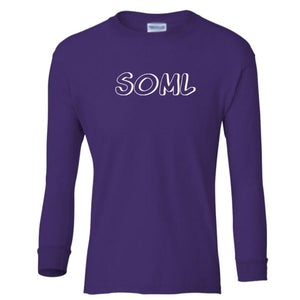 purple SOML youth long sleeve t shirt for girls