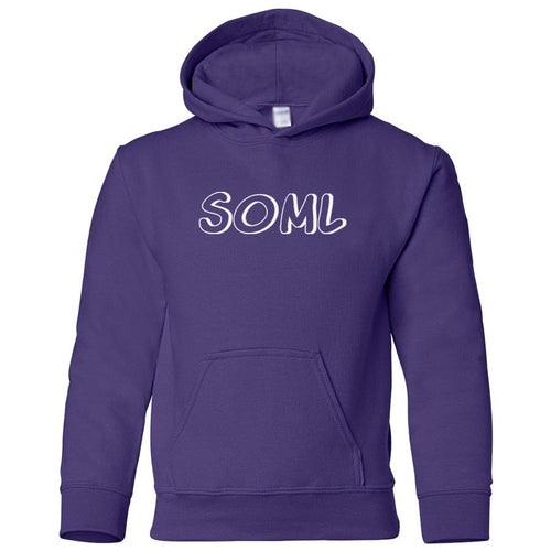 purple SOML youth hooded sweatshirts for girls