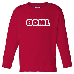 red SOML long sleeve t shirt for toddlers