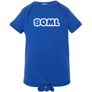 blue SOML onesie for babies