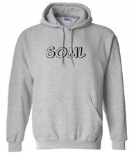 Load image into Gallery viewer, grey SOML hooded sweatshirt for women