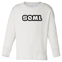 Load image into Gallery viewer, white SOML long sleeve t shirt for toddlers