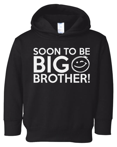 soon to be big brother toddler hoodie