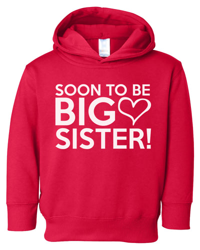 soon to be big sister toddler hoodie