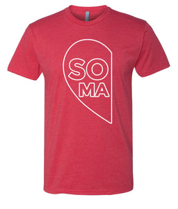 red soul mate Valentine's day couples t-shirt