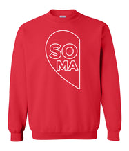 Load image into Gallery viewer, red soul mate couples valentines day sweatshirt