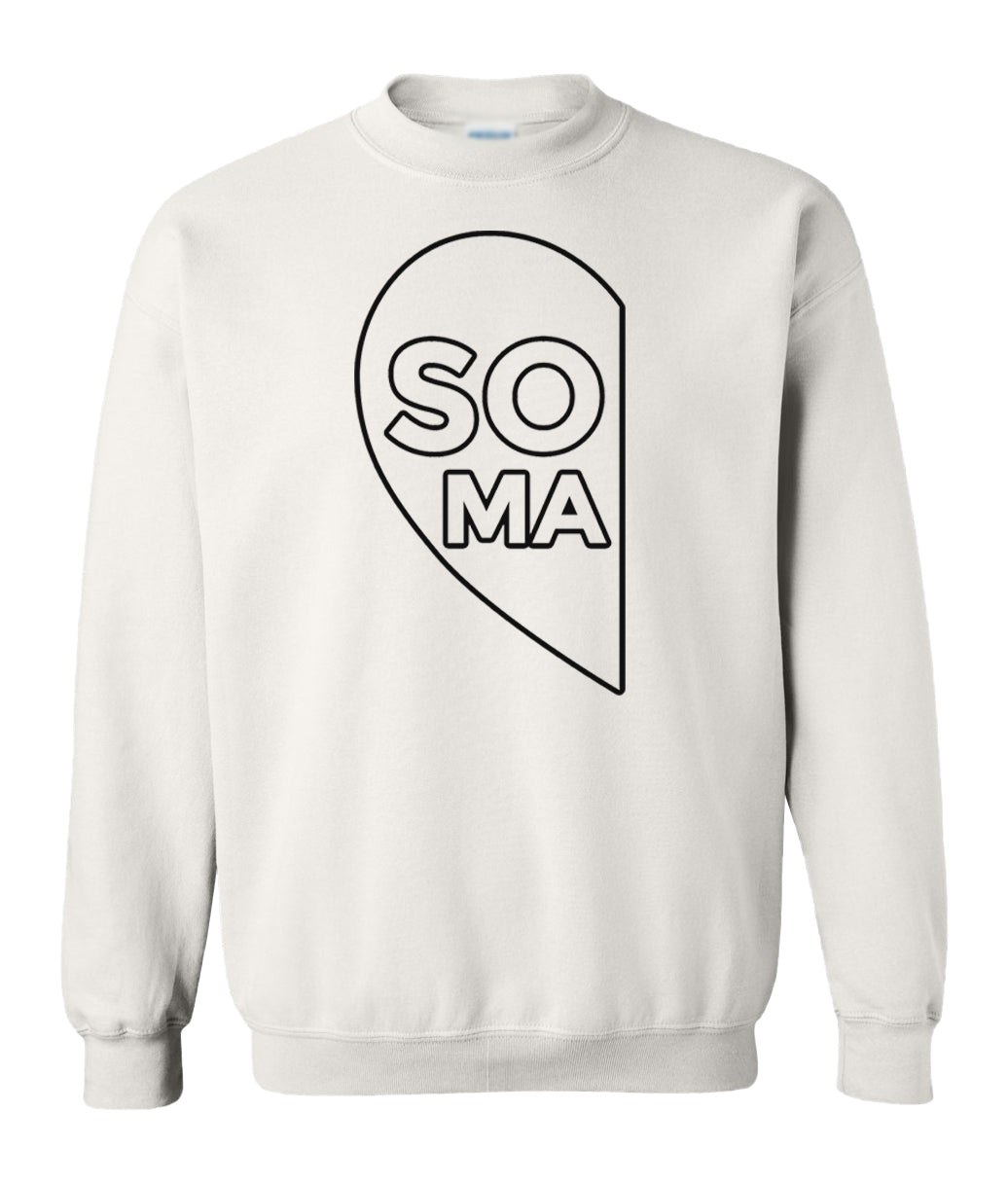 white soul mate couples valentines day sweatshirt