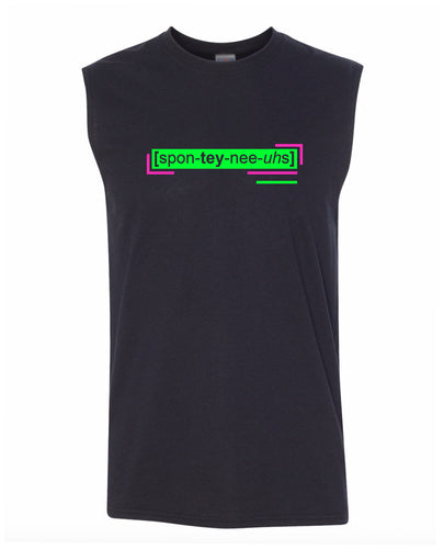 florescent green spontaneous men's sleeveless tee tank top