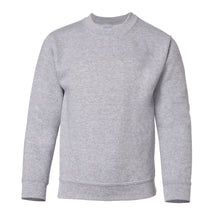 Load image into Gallery viewer, grey youth crewneck sweatshirt