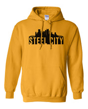 Load image into Gallery viewer, gold Pittsburgh Steel City Hoodie