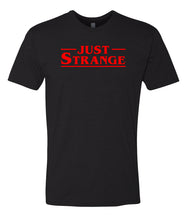 Load image into Gallery viewer, black just strange crewneck t shirt
