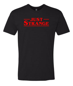 black just strange crewneck t shirt