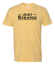 Load image into Gallery viewer, yellow just strange crewneck t shirt