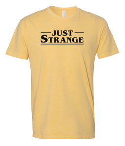 yellow just strange crewneck t shirt