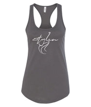 Load image into Gallery viewer, dark grey styling racerback tank top