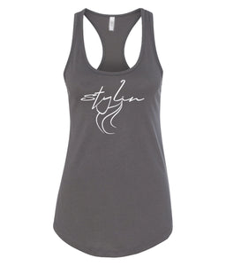 dark grey styling racerback tank top