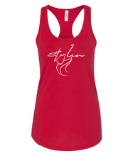 Load image into Gallery viewer, red styling racerback tank top