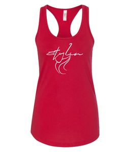 red styling racerback tank top