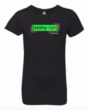 Load image into Gallery viewer, florescent green stylish neon streetwear t shirt for girls