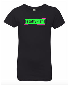 florescent green stylish neon streetwear t shirt for girls
