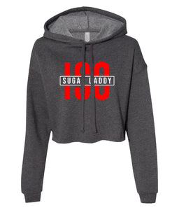 charcoal sugar daddy cropped hoodie