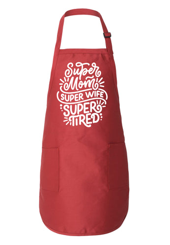 super mom mothers day apron