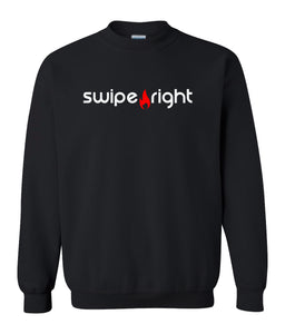 black swipe right sweatshirt