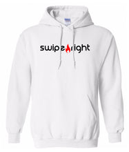 Load image into Gallery viewer, white swipe right hoodie