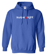 Load image into Gallery viewer, blue swipe right hoodie