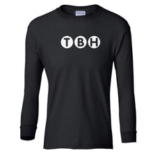 Load image into Gallery viewer, black TBH youth long sleeve t shirt for boys