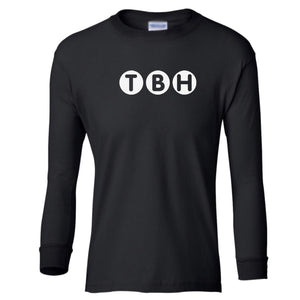 black TBH youth long sleeve t shirt for boys