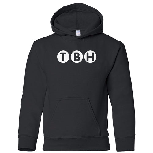 black TBH youth hooded sweatshirt for boys