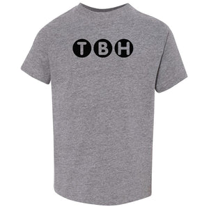 grey TBH crewneck t shirt for toddlers