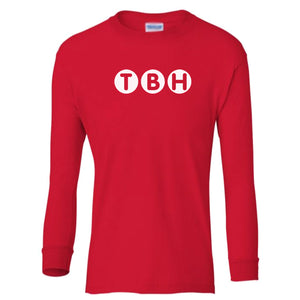 red TBH youth long sleeve t shirt for boys