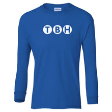 Load image into Gallery viewer, blue TBH youth long sleeve t shirt for boys