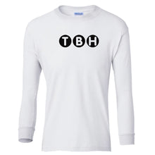 Load image into Gallery viewer, white TBH youth long sleeve t shirt for boys